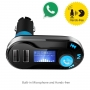 Modulator FM cu functie de hands free, 2 usb, mp3 player, suport SD card, telecomanda, argintiu