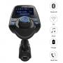 Modulator FM, T10 MP3 player,FM Kit, Bluetooth, Adaptor audio radio cu USB port de 5V 2.1A, afisaj LCD de 1,44''