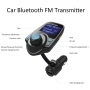 Modulator FM, T10 MP3 player,FM Kit, Bluetooth, Adaptor audio radio cu USB port de 5V 2.1A, afisaj LCD de 1,44''