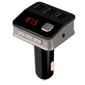 Modulator FM, MP3 player,FM Kit, Bluetooth, 3xUSB, 5V/5.2A, USB audio player suport, negru