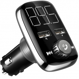 Modulator FM, MP3 player,FM kit, bluetooth, XBoze (cea mai noua versiune), 2xUSB, negru