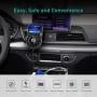 Modulator FM, Quick Charge 3.0, Bluetooth, Wireless hands-free, LCD 1.44, MP3 player, FM kit, USB 2.4A, QC3.0
