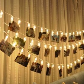Decoratiuni clipsuri cu led, 2.5 m 20 LED-uri, pentru fotografii perete, Craciun, petreceri