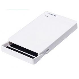 """Carcasa Rack Extern Hard Disk / SSD 2.5"""", USB 3.0, hdd sata 3, Led indicator, alb"""