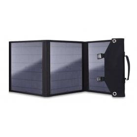 Panou solar 18V - 30W, pliabil, portabil, cu 3 porturi USB