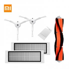 Set kit 3 accesorii Originale Aspirator XIAOMI MI Robot, perie laterala, filtru HEPA, perie principala roborock generatia a 2-a
