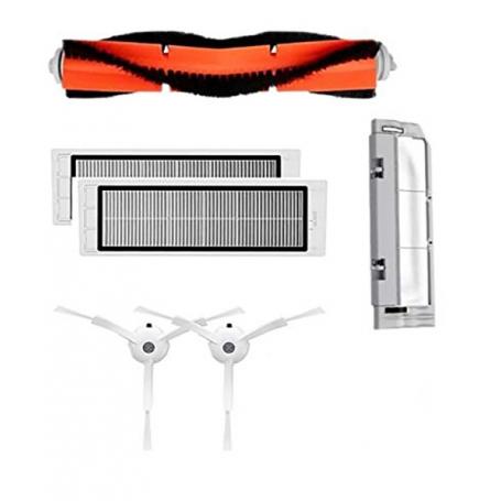 Set kit 4 accesorii Originale Aspirator XIAOMI MIRobot, perie laterala, filtru, perie principala, capac, roborock generatia a2-a