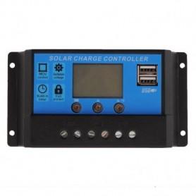 Regulator, controler solar PWM 30A 12V/24V cu doua USB si LCD