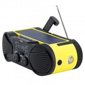 Radio portabil camping, calamitati naturale, incarcare solara, USB, powerbank 2000 mah, lanterna, survival kit - galben