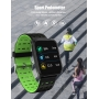 Ceas Smartwatch 2019, fitness, TENSIOMETRU SI MONITORIZARE INIMA,VERDE