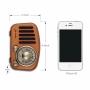 Boxa portabila bluetooth retro, conectare bluetooth 4.2, cu radio FM, SD, MP3, bas puternic, 6w