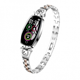 Bratara SMART, cu functie masurare ridm cardiac, femei, IOS / Android, ARGINTIE