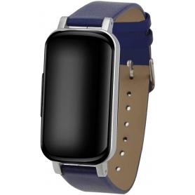 Casti wireless T89, TWS, Bluetooth, fitness, monitor ritm cardiac, albastru inchis