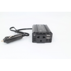 Invertor auto 150W 12V DC, cu incarcator auto dublu 3.1A USB