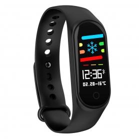 Bratara fitness, M3, waterproof, monitor somn, pedometru, calorii arse, mesaje, apeluri, 0.96 inch,tip sport, negru