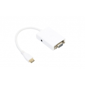 Adaptor Mini HDMI to VGA cu audio, 15 cm