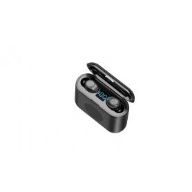 Casti bluetooth F9 PLUS, 3 in 1, boxa, ecran LED, cutie de incarcare , bluetooth V5.0, sunet 9D, culoare negru, impermeabile