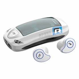 Casti Bluetooth TWS T911, wireless, cutie de incarcare, casti audio, muzicale, stereo, alb