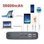 Baterie externa laptop,  power bank  50000 mAh cu 4 USB si 12 adaptoare laptop, contine controler solar MPPT, PowerOak, K2 SOLAR