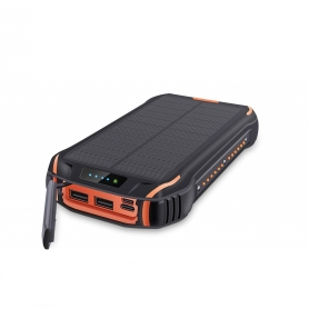 Acumulator extern power bank, 26800 mAh, QC,  brand Pyramid®, SOLAR,lanterna Macbook Pro, camping, Iphone , Samsung