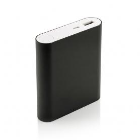 Carcasa de aluminiu pentru Power Bank DS7654 cu 4 baterii acumulator tip 18650 si un port USB, negru