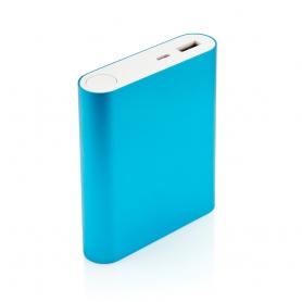 Carcasa de aluminiu pentru Power Bank DS7654 cu 4 baterii acumulator tip 18650 si un port USB, albastru