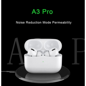 Casti bluetooth A3 PRO cu bluetooth 5.0, incarcare wireless, touch control si calitate a sunetului