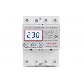 Releu TRIFAZIC siguranta digitala de protectie tensiune 380V, 1- 50A,  STVP-936-50A,  recuperare automata
