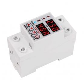 Releu siguranta digitala  de protectie tensiune 40A, SVP-918-40A, ecran dublu LED, recuperare automata