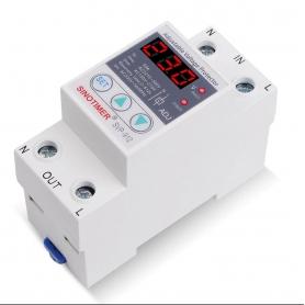 Releu siguranta digitala  de protectie tensiune 63A, SVP-912, ecran digital LED, recuperare automata, SVP-912-63A