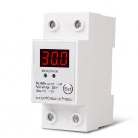 Releu siguranta digitala  de protectie tensiune 30A, 230V, SAP-30A, recuperare automata cu afisaj LED