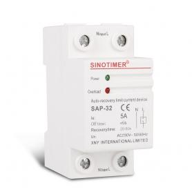 Releu Sinotimer, siguranta digitala  de protectie tensiune 5A, SAP-32, recuperare automata