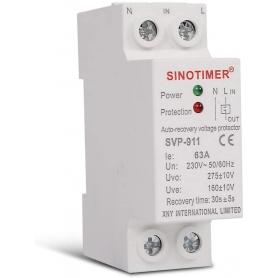 Releu siguranta digitala  de protectie tensiune 63A, 230V,  recuperare automata, SVP-911-63A