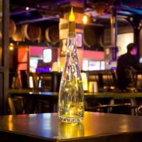 Ghirlanda Instalatie luminoasa  2M cu 20 de leduri, cu capat stil lumanare, lumina calda, IL-CSL-CF
