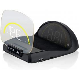 Display de bord pentru parbriz, HUD, cu sistem dual GPS si OBD2, C700S