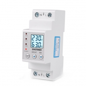 Releu siguranta digitala  de protectie tensiune 63A, SVP-917-63A, ecran  LED, recuperare automata