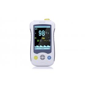 Pulsoximetru deget - Saturatie cu oxigen din sange , ritm respirator, monitor PI Sleep YK-820 pentru copii si adulti, alb