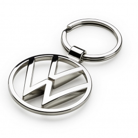 Breloc original VW metalic cu logo-ul VOLKSWAGEN, argintiu