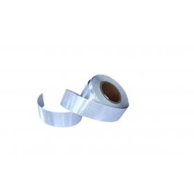 Banda reflectorizanta adeziva, continua, tip fagure, alba fluorescenta, BR, 5cmx25m