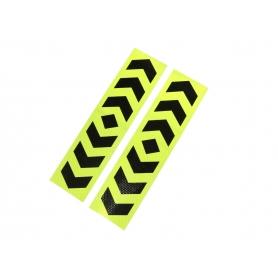 Set 2xAbtibild reflectorizant, adeziv 10cm X 40cm, verde/negru, AB