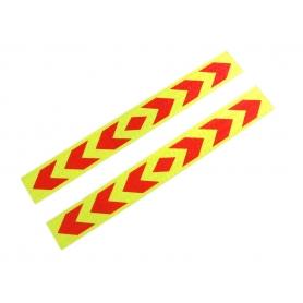 Set 2xAbtibild reflectorizant, adeziv 5cm X 40cm, galben/rosu, ABMIC