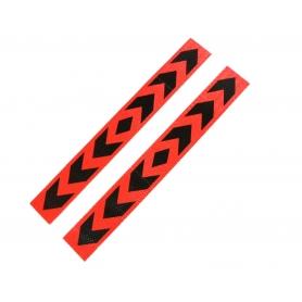 Set 2xAbtibild reflectorizant, adeziv 5cm X 40cm, rosu/negru, ABMIC