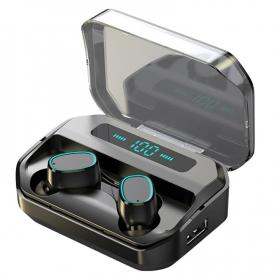 Casti bluetooth PYRAMID, M8, sunet stereo, bluetooth V5.0, tip in-ear, rezistente la apa IPX7