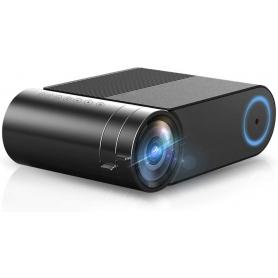 Mini videoproiector LED portabil, WIFI, PYRAMID®, 3500 Lumeni, HD 720P, pentru acasa, birou, scoala, home cinema, YG420