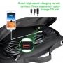 Panou solar portabil camping 18V - 40W, PYRAMID®, pliabil, cu 3 porturi USB si iesire DC pentru panou solar, PS-40-1