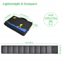 Panou solar portabil camping 18V - 60W, Pyramid, pliabil, cu 2 porturi USB si iesire DC, PS-60-1