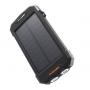 Baterie externa power bank, PYRAMID®, solar cu incarcare wireless de 10000 mAh Qi wireless, display LED, Micro/USB Type-C