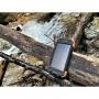 Baterie externa power bank, PYRAMID®, solar cu incarcare wireless de 10000 mAh Qi wireless, Micro/USB Type-C, PY-10W