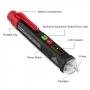 Creion detector de tensiune fara contact direct Pyramid® , cu lumina LED, afisaj grafic, AC 12V – 1000V, HT100