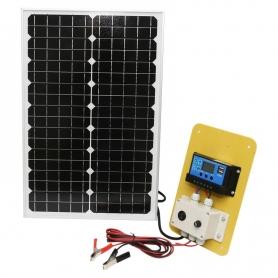 Kit Panou solar 30W, PYRAMID®, fotovoltaic, monocristalin, controller 30A 12/24V, cablu conectare, tensiune 18V, PS-PYR30-1